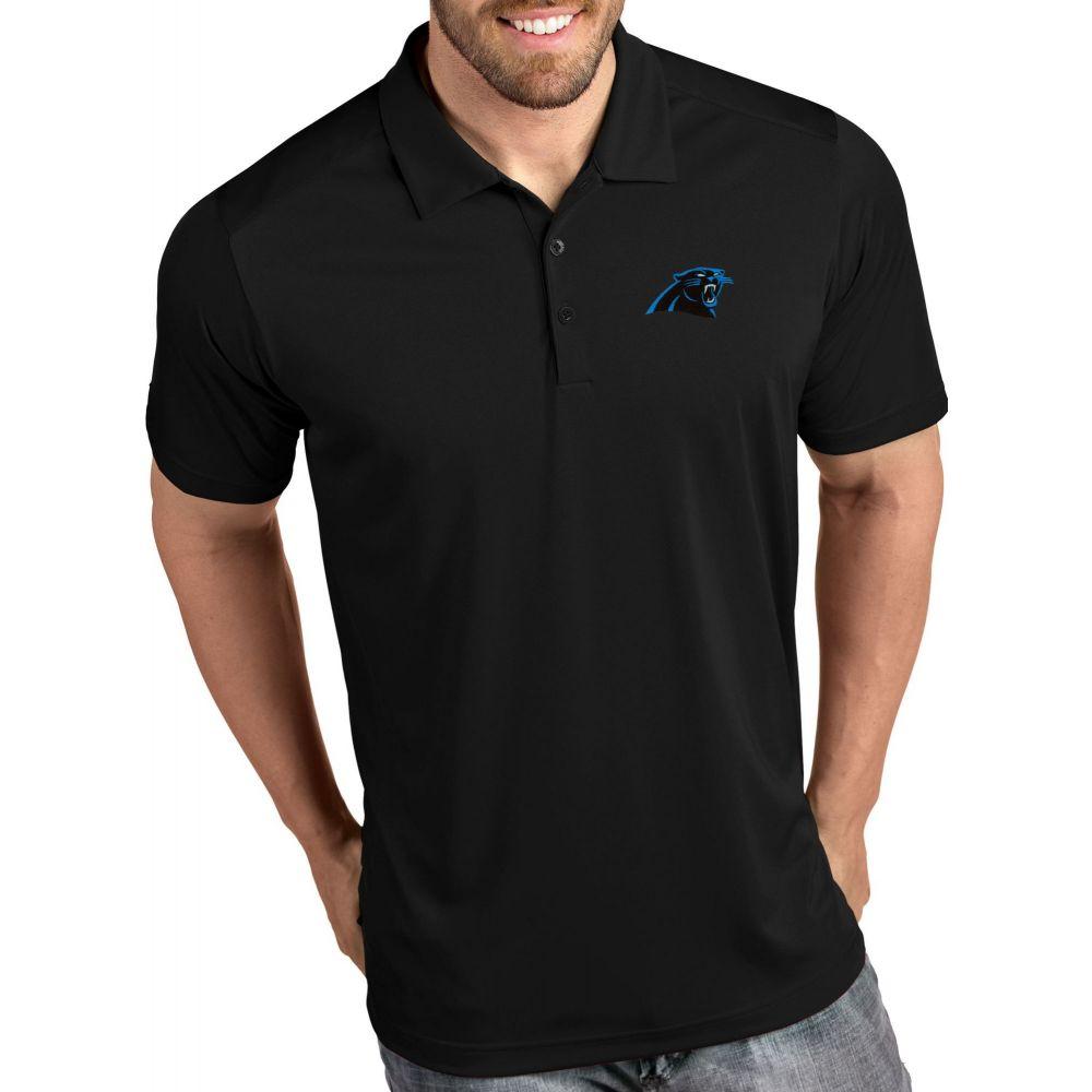 アンティグア Antigua メンズ ポロシャツ トップス【Carolina Panthers Tribute Black Polo】
