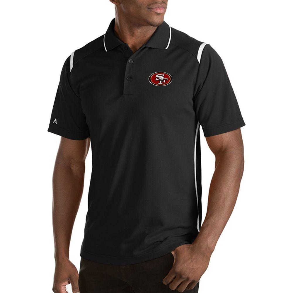 アンティグア Antigua メンズ ポロシャツ トップス【San Francisco 49ers Merit Black Xtra-Lite Polo】