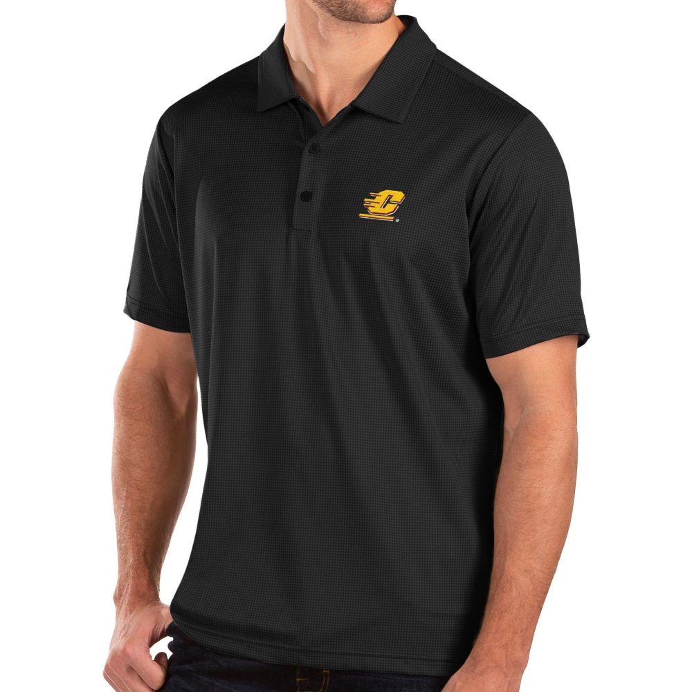 アンティグア Antigua メンズ ポロシャツ トップス【Central Michigan Chippewas Balance Black Polo】