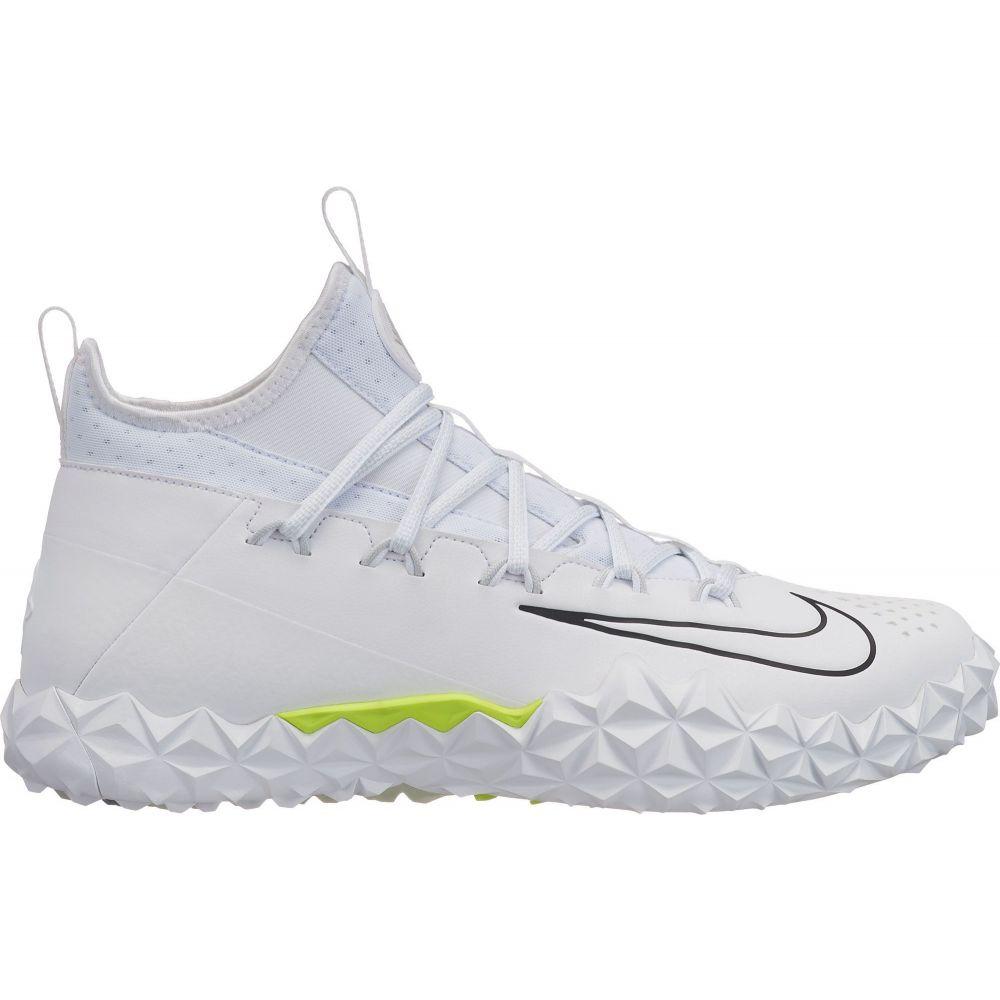 ナイキ Nike メンズ ラクロス スパイク シューズ・靴【Alpha Huarache 6 Elite TF Lacrosse Cleats】White/Volt
