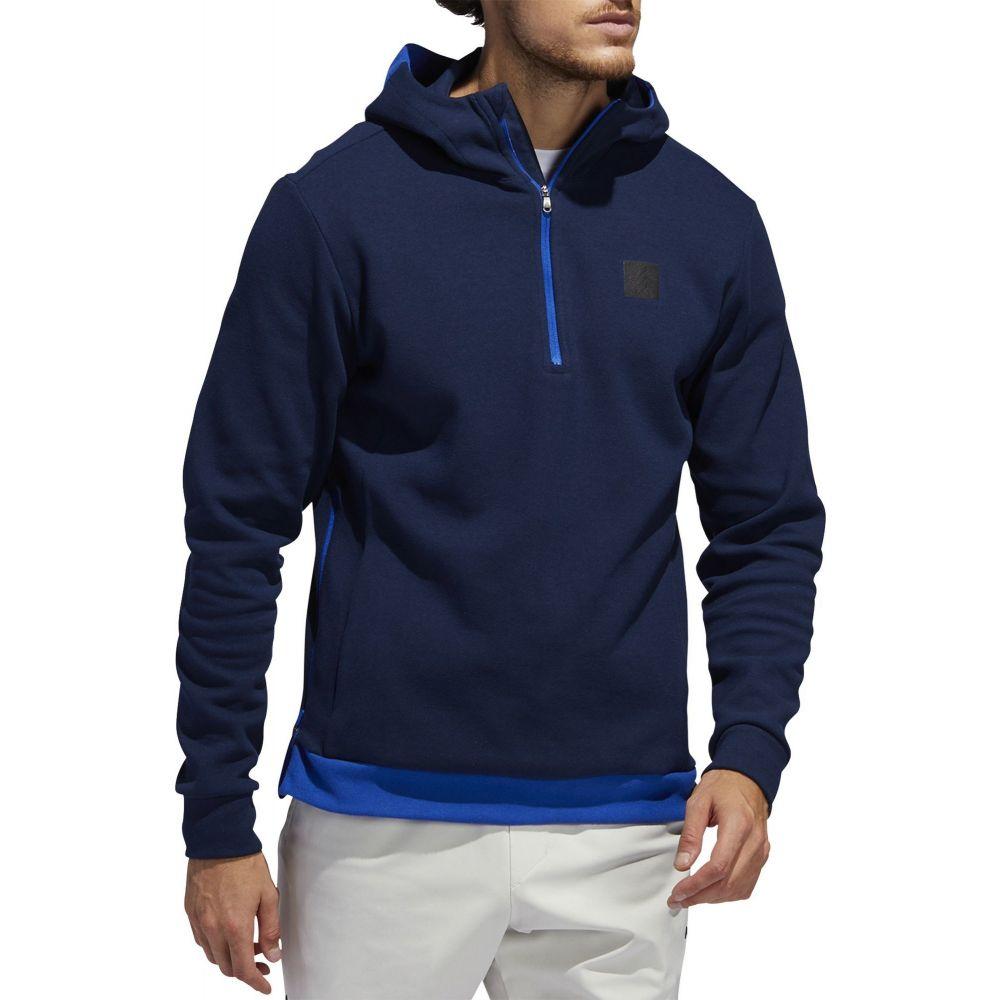 アディダス adidas Golf メンズ ゴルフ ハーフジップ パーカー トップス【adidas AdiCROSS 1/2 Zip Golf Hoodie】Team Royal Blue