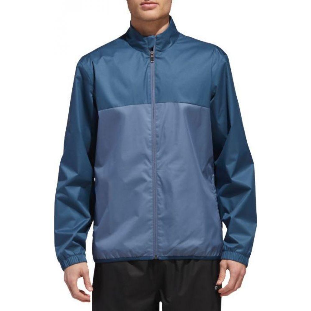 アディダス adidas メンズ ゴルフ レインジャケット アウター【Climastorm Provisional Golf Rain Jacket】Sub Blue