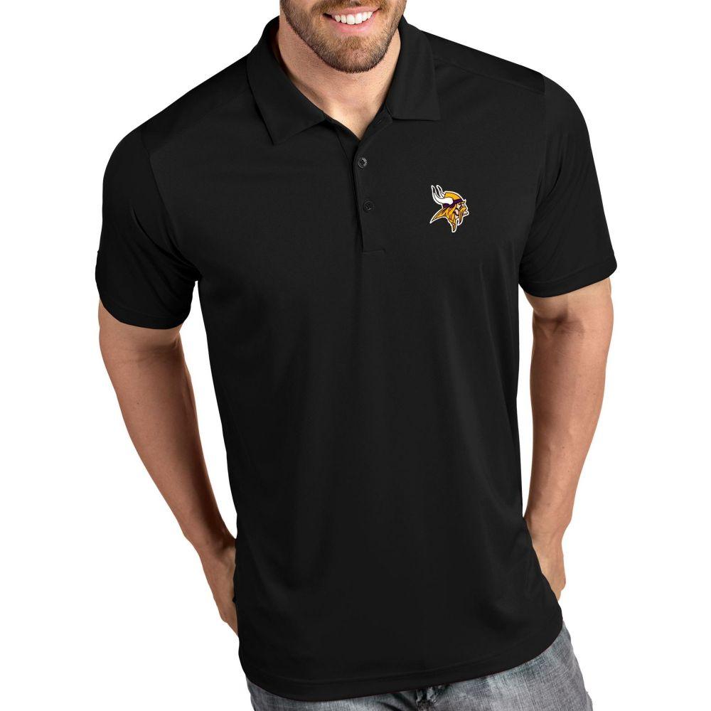 アンティグア Antigua メンズ ポロシャツ トップス【Minnesota Vikings Tribute Black Polo】