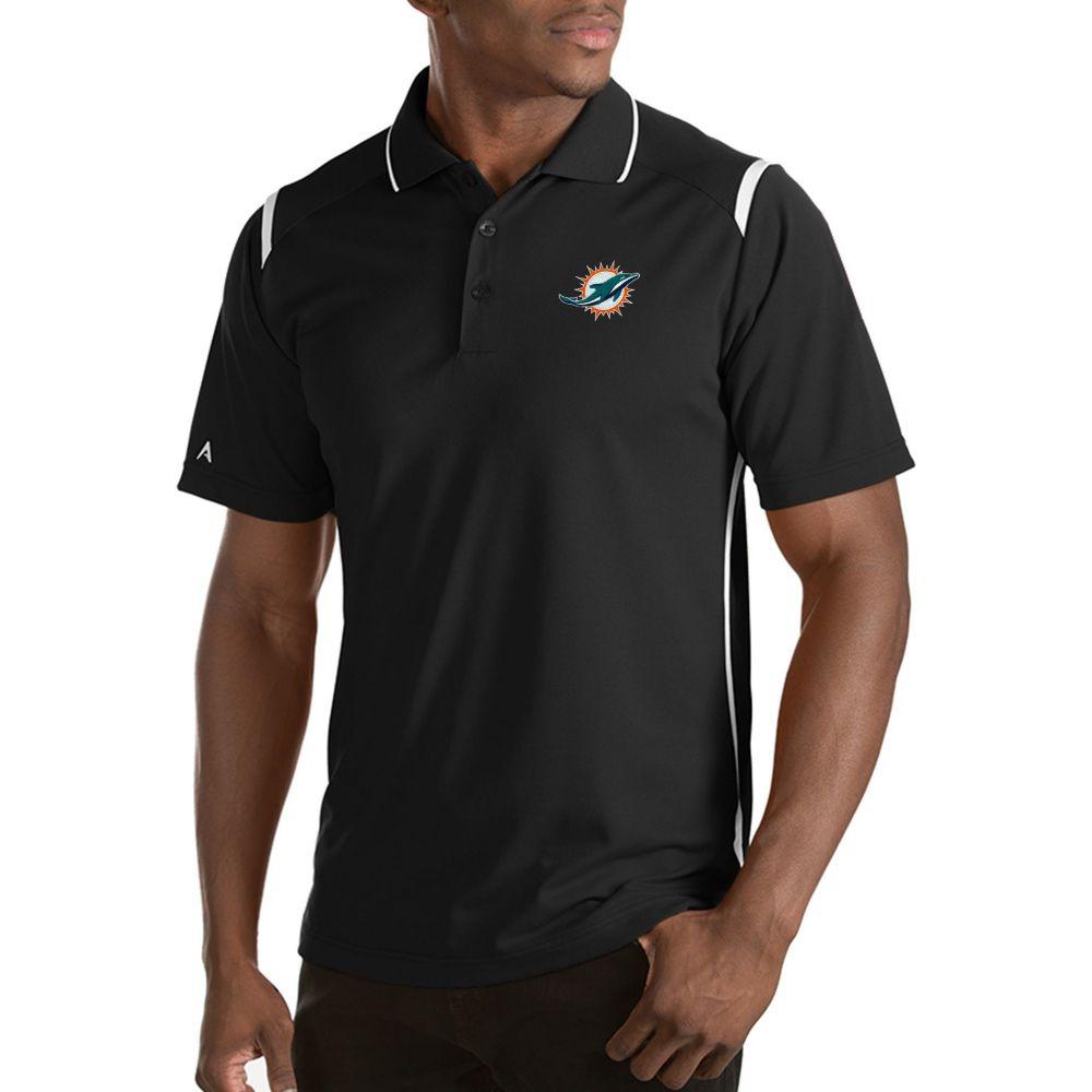 アンティグア Antigua メンズ ポロシャツ トップス【Miami Dolphins Merit Black Xtra-Lite Polo】
