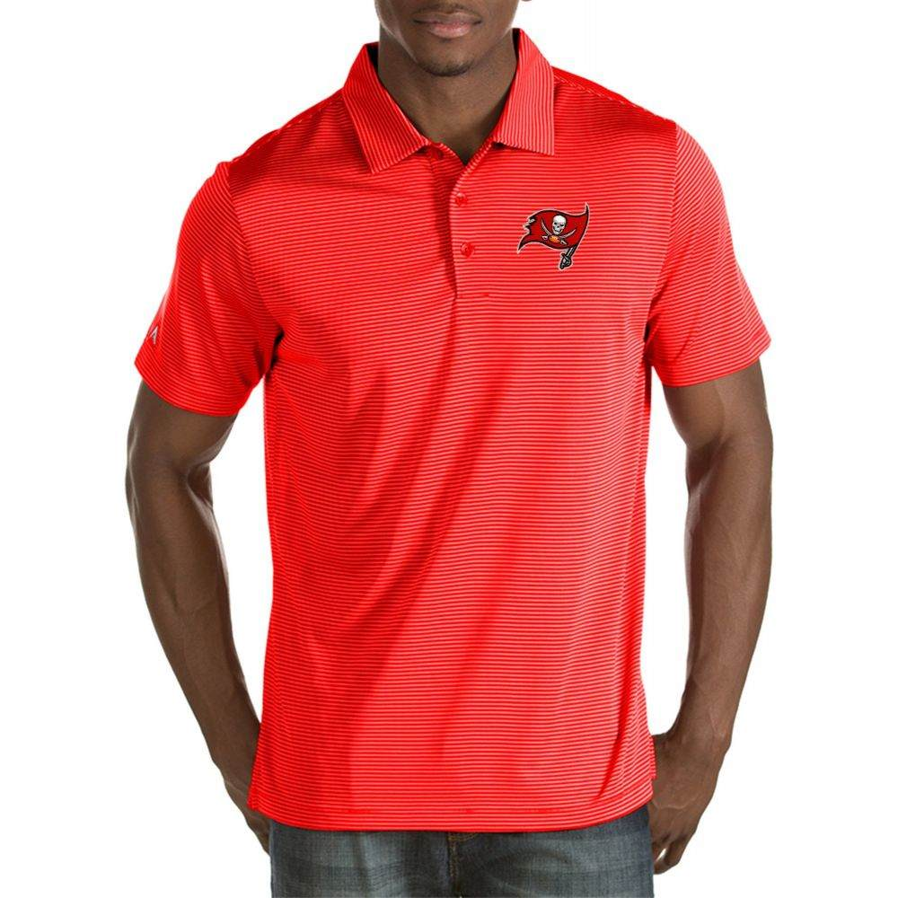 アンティグア Antigua メンズ ポロシャツ トップス【Tampa Bay Buccaneers Quest Red Polo】