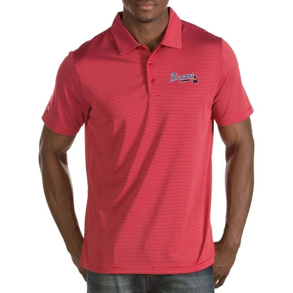 アンティグア Antigua メンズ ポロシャツ トップス【Atlanta Braves Quest Red Performance Polo】