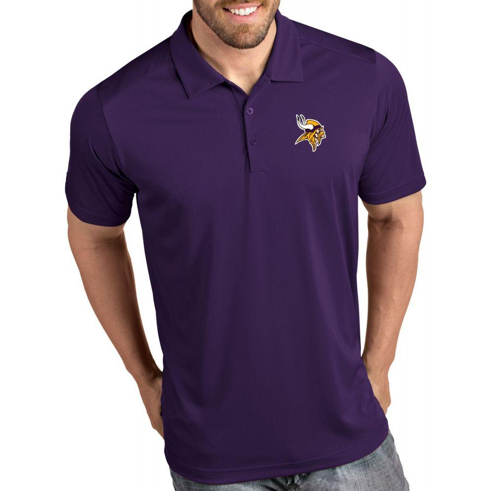 アンティグア Antigua メンズ ポロシャツ トップス【Minnesota Vikings Tribute Purple Polo】