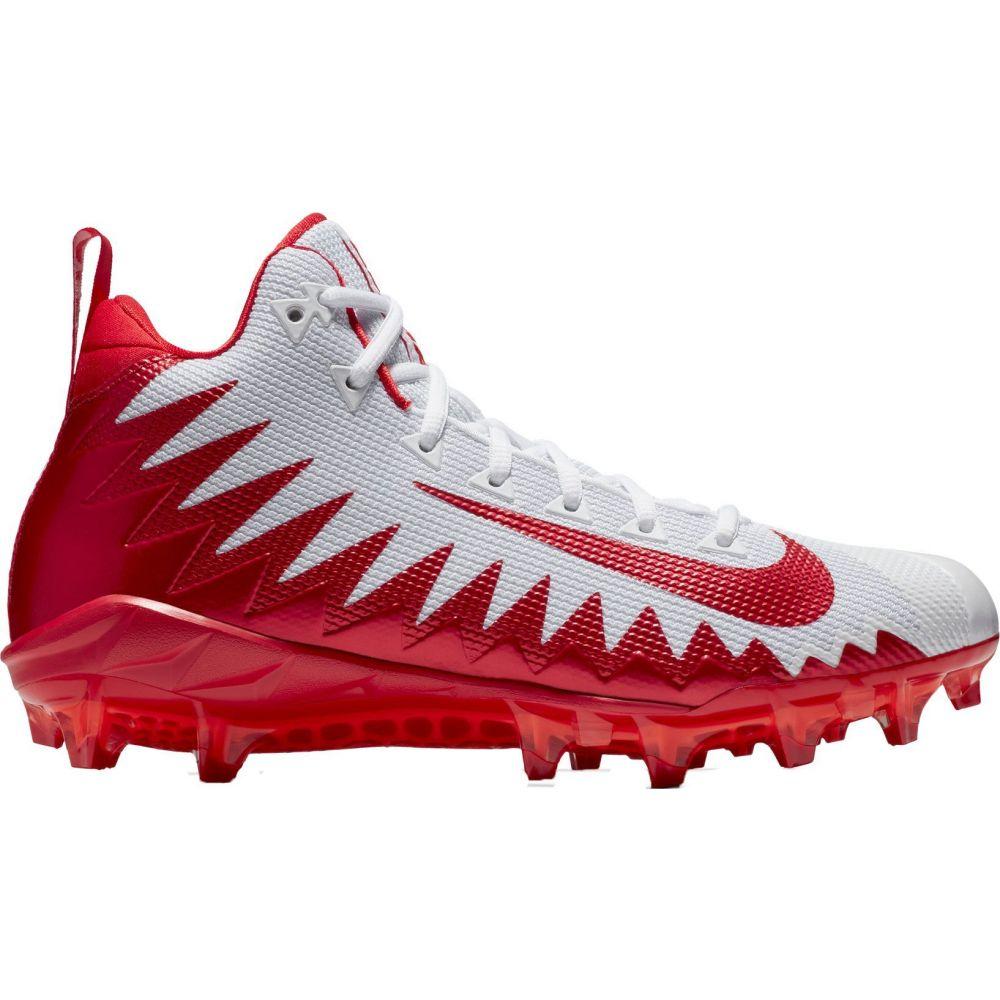 ナイキ Nike メンズ アメリカンフットボール スパイク シューズ・靴【Alpha Menace Pro Mid Football Cleats】White/Red