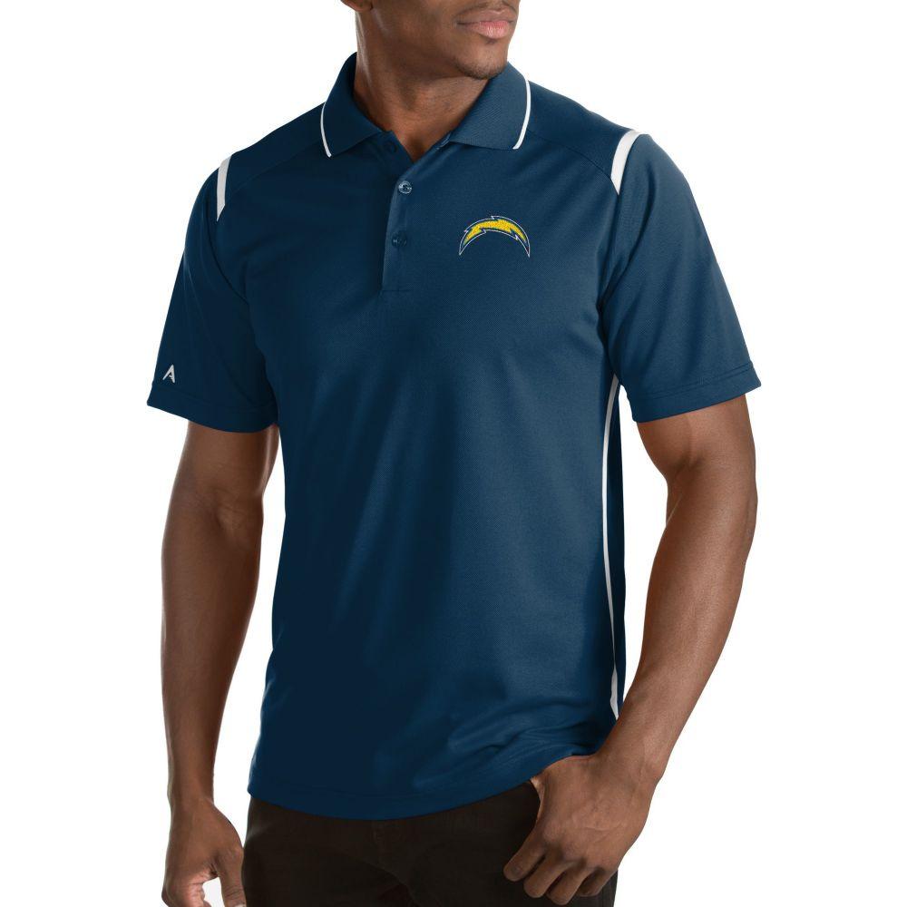 アンティグア Antigua メンズ ポロシャツ トップス【Los Angeles Chargers Merit Navy Xtra-Lite Polo】
