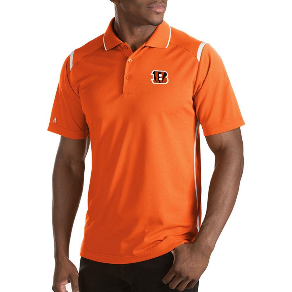 アンティグア Antigua メンズ ポロシャツ トップス【Cincinnati Bengals Merit Orange Xtra-Lite Polo】