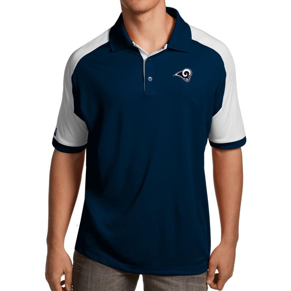アンティグア Antigua メンズ ポロシャツ トップス【Los Angeles Rams Century Navy Polo】