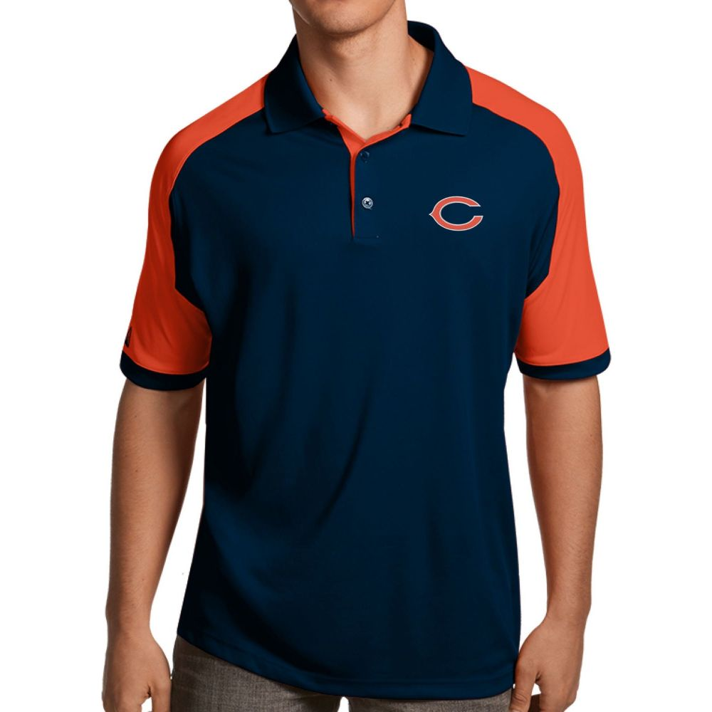 アンティグア Antigua メンズ ポロシャツ トップス【Chicago Bears Century Navy Polo】