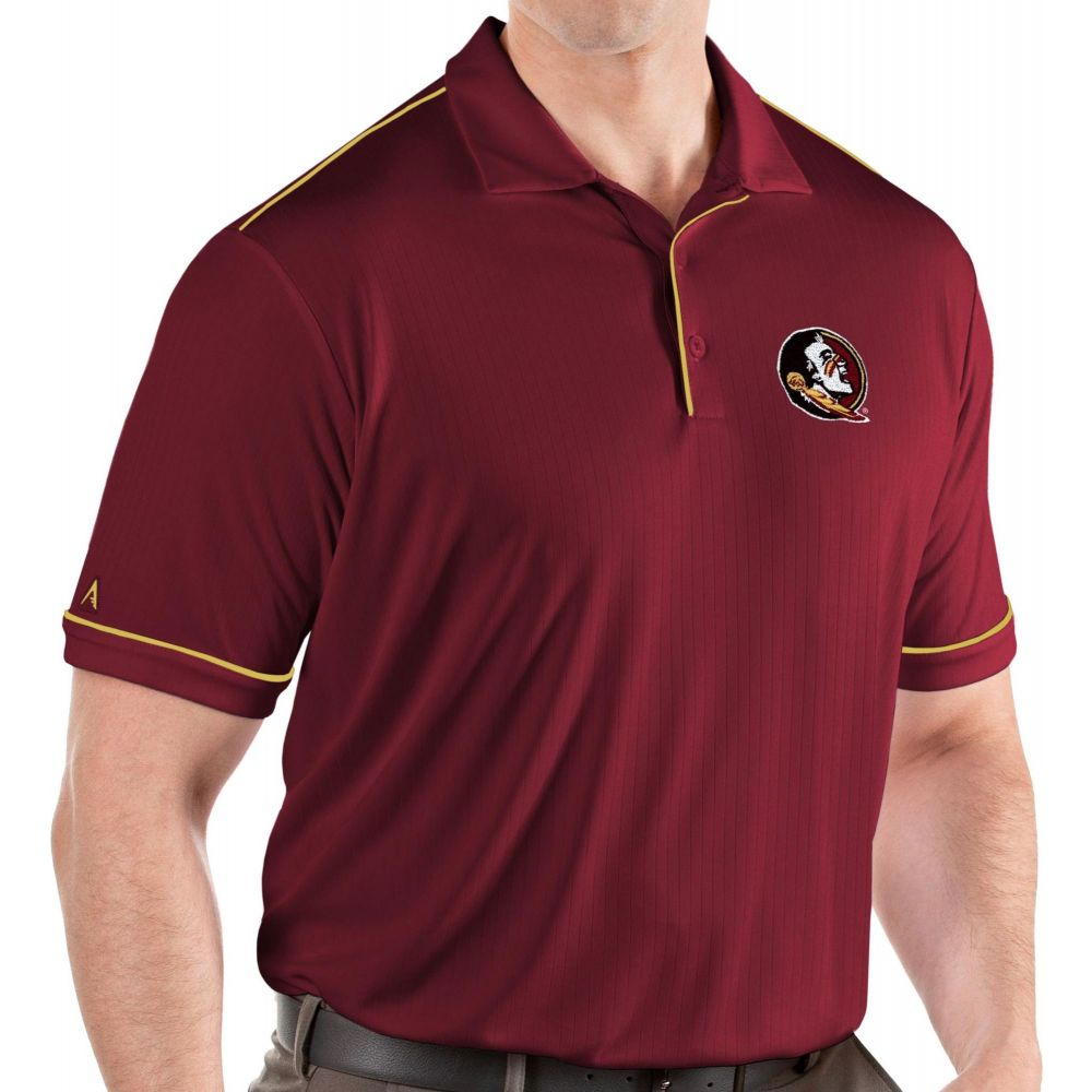 アンティグア Antigua メンズ ポロシャツ トップス【Florida State Seminoles Garnet Salute Performance Polo】