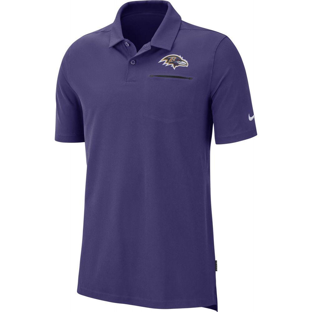 ナイキ Nike メンズ ポロシャツ トップス【Baltimore Ravens Sideline Elite Performance Purple Polo】