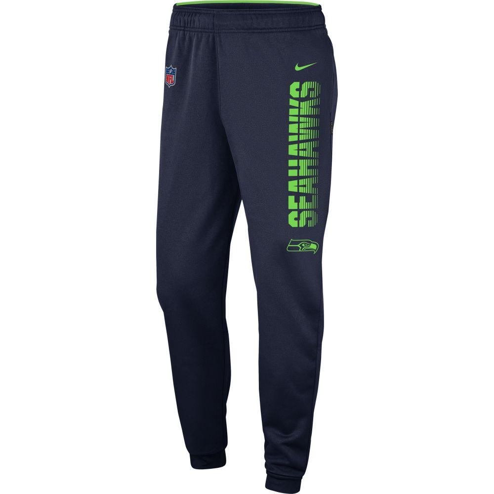 ナイキ Nike メンズ フィットネス・トレーニング ボトムス・パンツ【Seattle Seahawks Sideline Therma-FIT Performance Navy Pants】