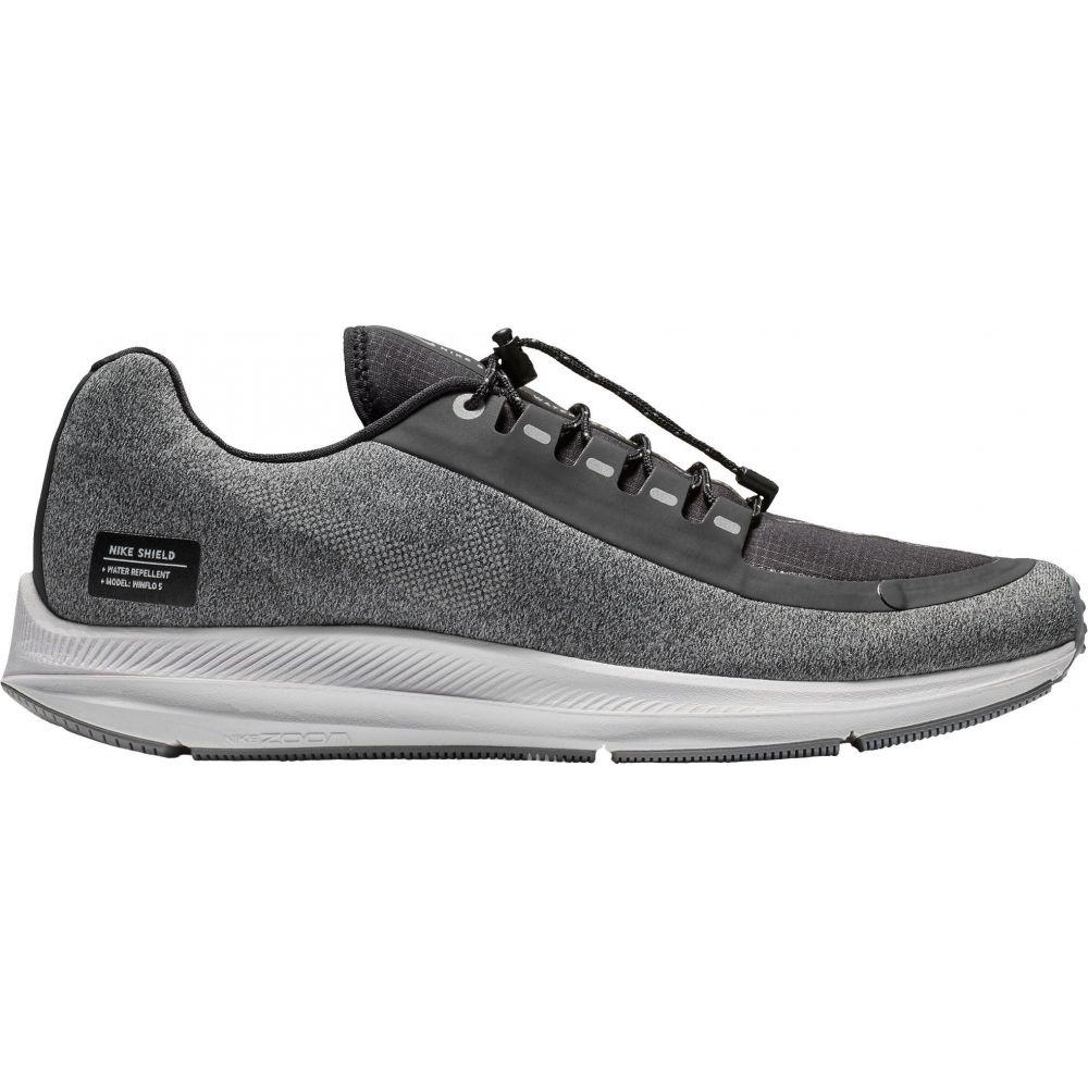ナイキ Nike メンズ ランニング・ウォーキング シューズ・靴【Air Zoom Winflo 5 Shield Running Shoes】Black/Silver/Grey