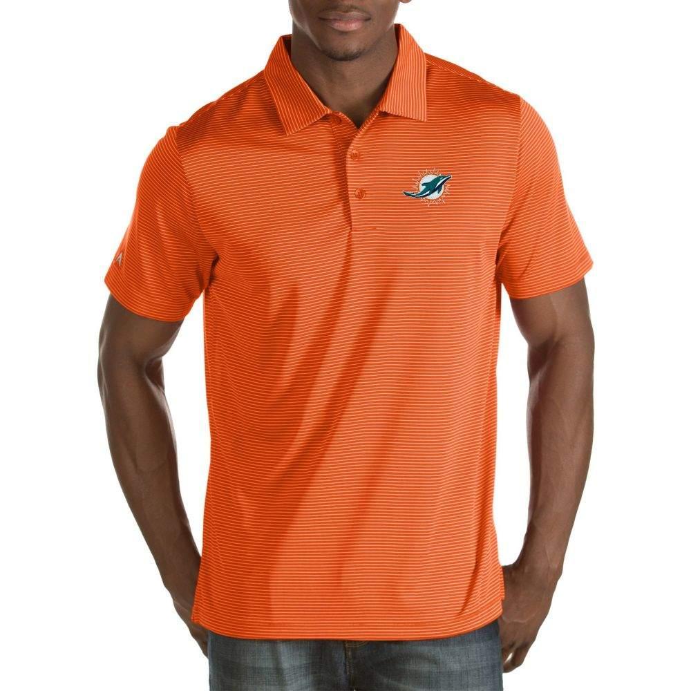 アンティグア Antigua メンズ ポロシャツ トップス【Miami Dolphins Quest Orange Polo】