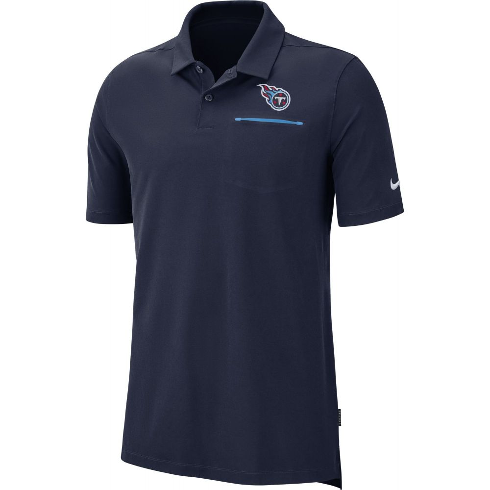ナイキ Nike メンズ ポロシャツ トップス【Tennessee Titans Sideline Elite Performance Navy Polo】