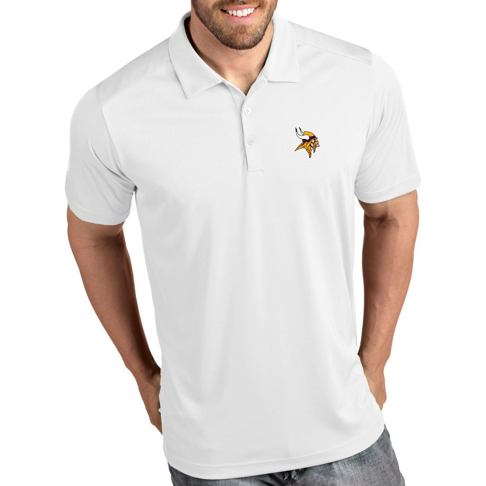アンティグア Antigua メンズ ポロシャツ トップス【Minnesota Vikings Tribute White Polo】