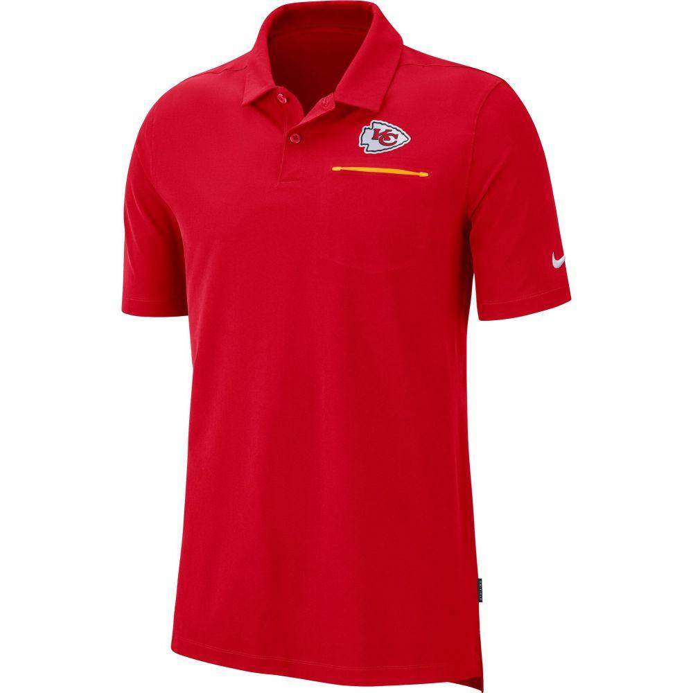 ナイキ Nike メンズ ポロシャツ トップス【Kansas City Chiefs Sideline Elite Performance Red Polo】