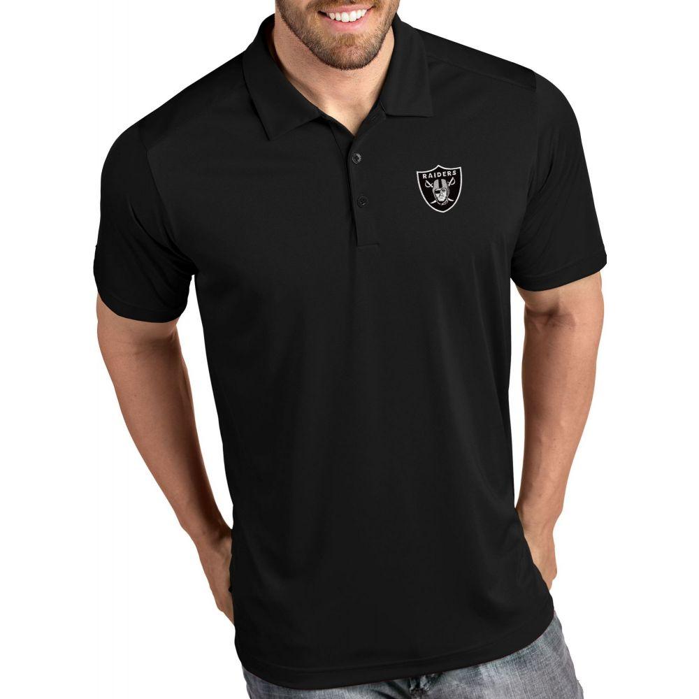アンティグア Antigua メンズ ポロシャツ トップス【Las Vegas Raiders Tribute Black Polo】