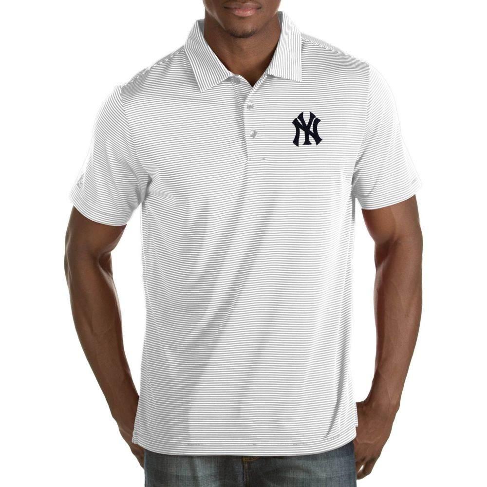 アンティグア Antigua メンズ ポロシャツ トップス【New York Yankees Quest White Performance Polo】