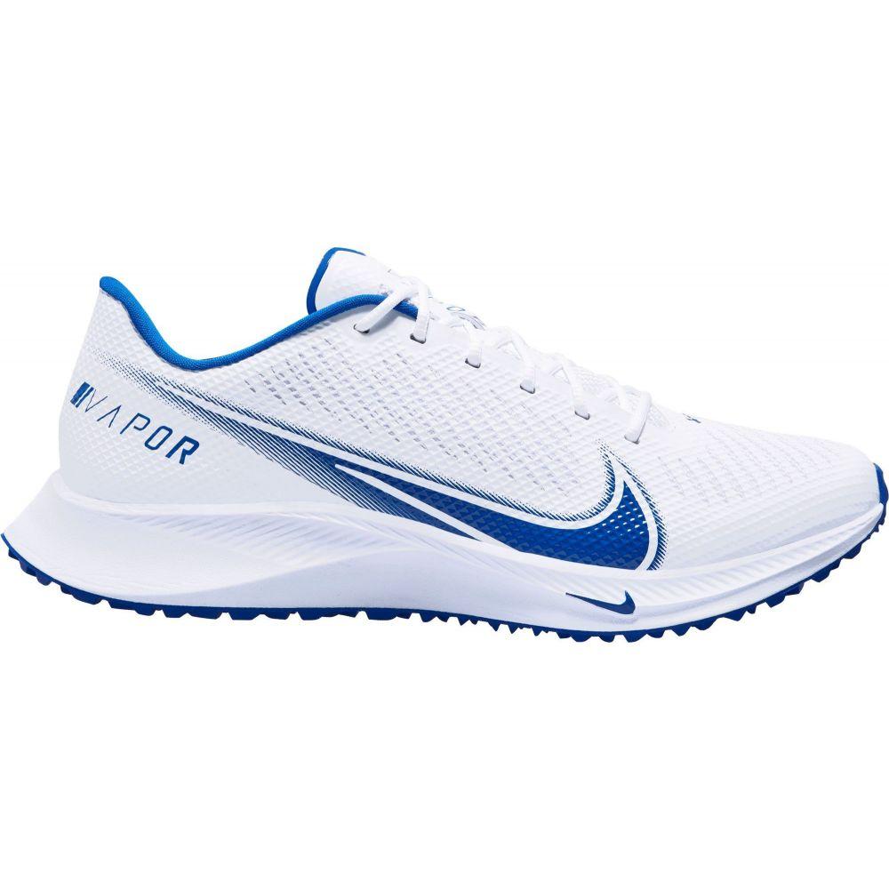 ナイキ Nike メンズ アメリカンフットボール スパイク シューズ・靴【Vapor Edge Turf Football Cleats】White/Royal