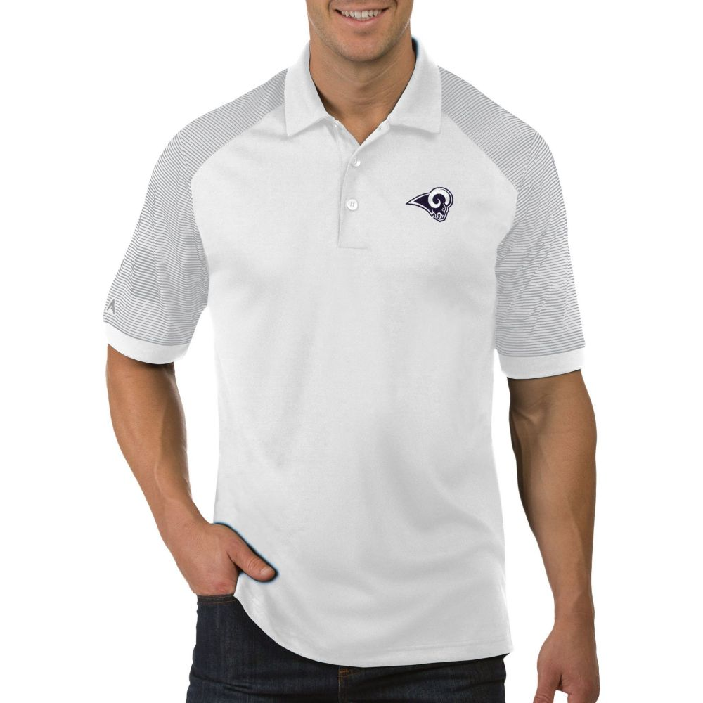 アンティグア Antigua メンズ ポロシャツ トップス【Los Angeles Rams Engage White Performance Polo】