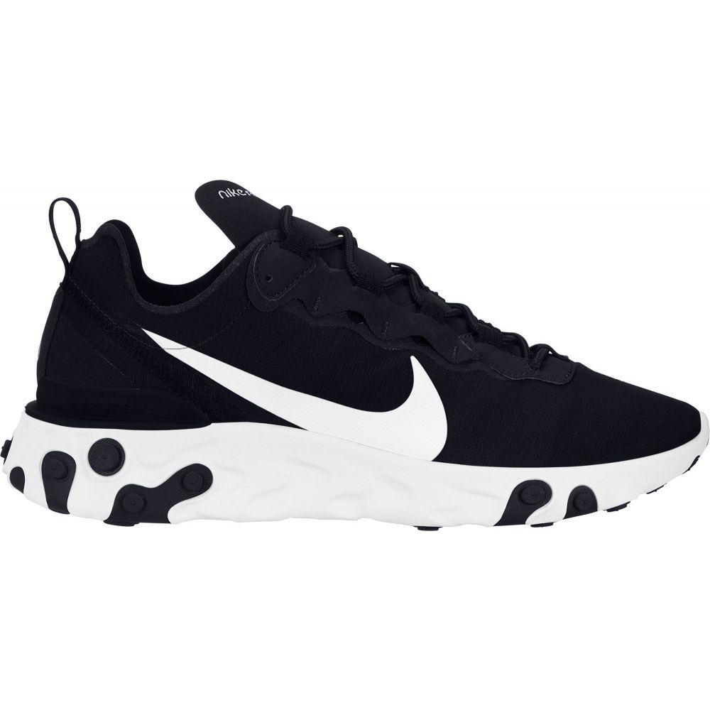 ナイキ Nike メンズ スニーカー シューズ・靴【React Element 55 Shoes】Black/White