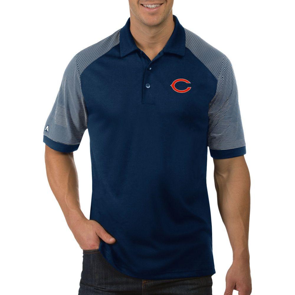 アンティグア Antigua メンズ ポロシャツ トップス【Chicago Bears Engage Navy Performance Polo】