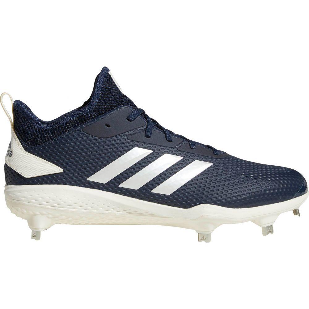 アディダス adidas メンズ 野球 スパイク シューズ・靴【adiZERO Afterburner V Metal Baseball Cleats】Navy/White
