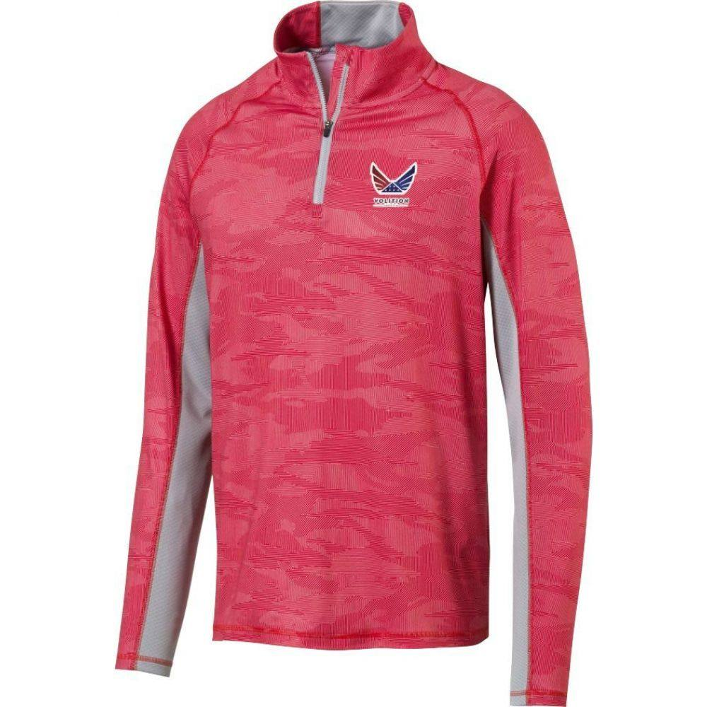 プーマ PUMA メンズ ゴルフ トップス【Volition Signature Golf 1/4 Zip】High Risk Red