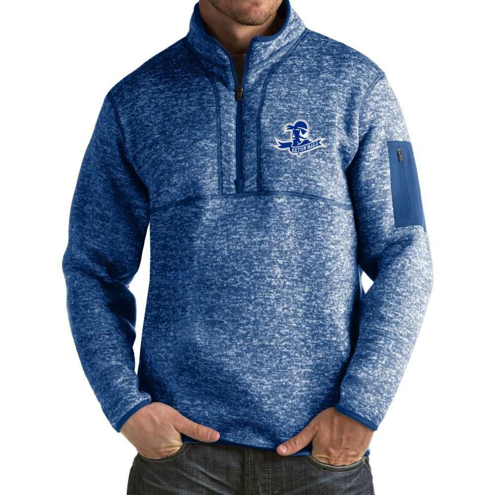 アンティグア Antigua メンズ ジャケット アウター【Seton Hall Seton Hall Pirates Blue Fortune Pullover Jacket】