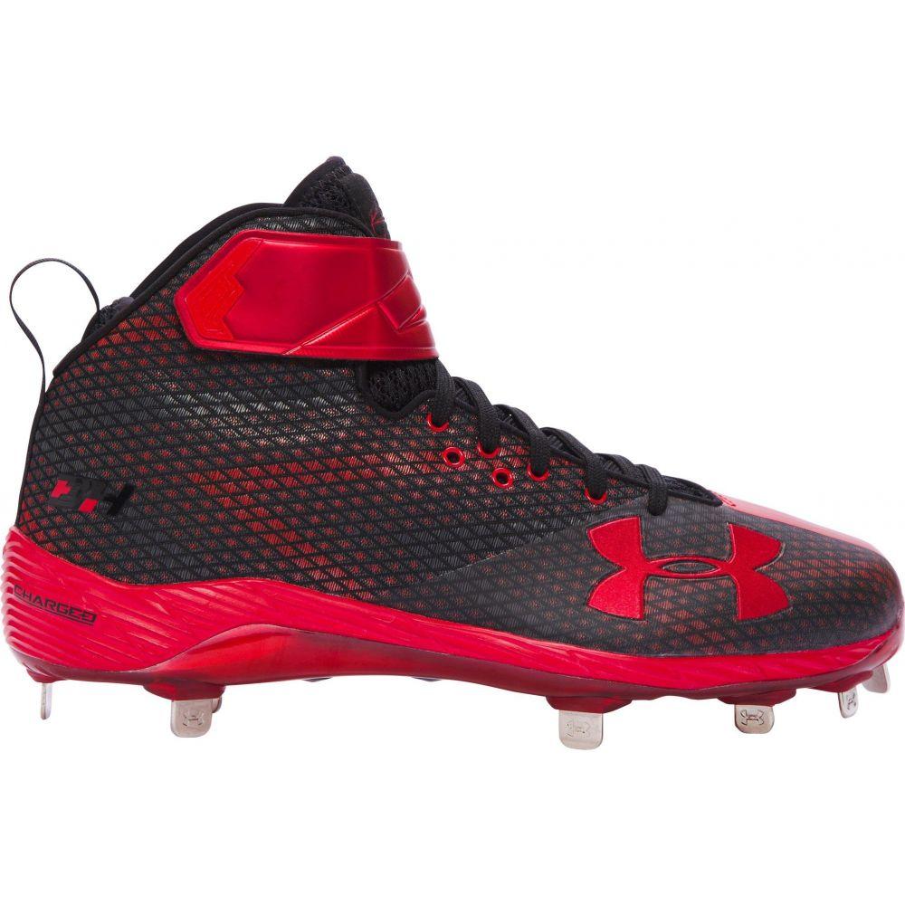 アンダーアーマー Under Armour メンズ 野球 スパイク シューズ・靴【Harper One Mid ST Baseball Cleats】Black/Red