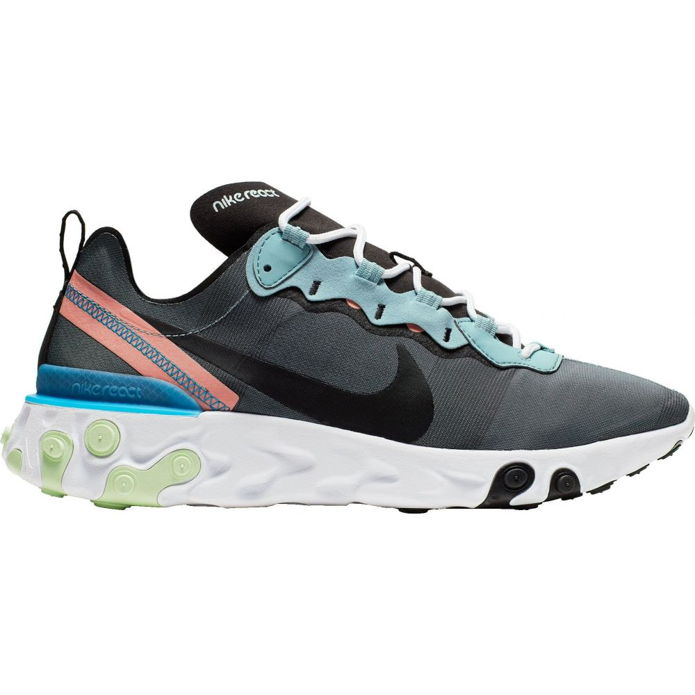 ナイキ Nike メンズ スニーカー シューズ・靴【React Element 55 Shoes】Ocean/Blk/Pink Quartz