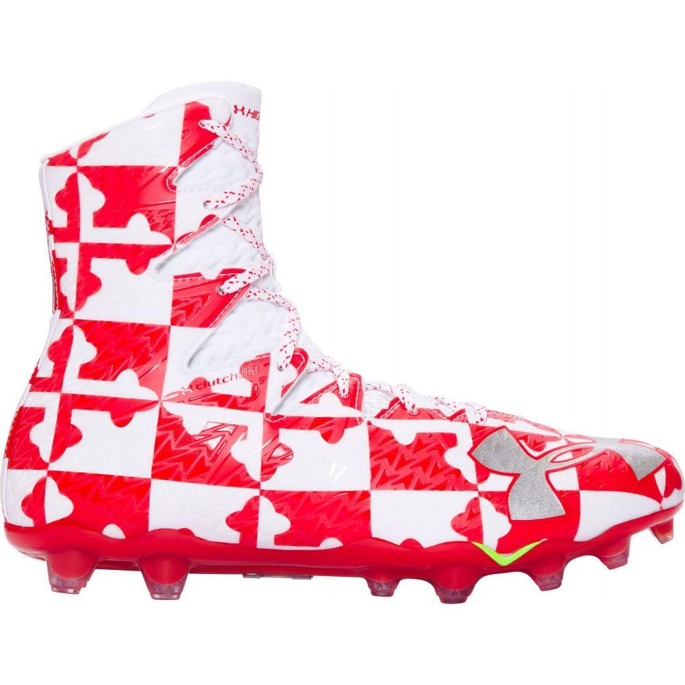 アンダーアーマー Under Armour メンズ ラクロス スパイク シューズ・靴【Highlight MC Lacrosse Cleats】Red/Silver