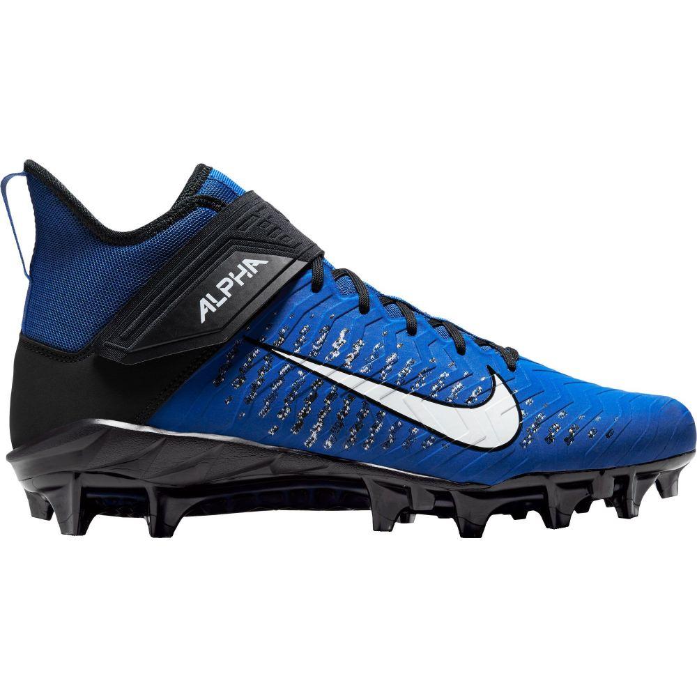 ナイキ Nike メンズ アメリカンフットボール スパイク シューズ・靴【Alpha Menace Pro 2 Mid Football Cleats】Game Royal/White/Black