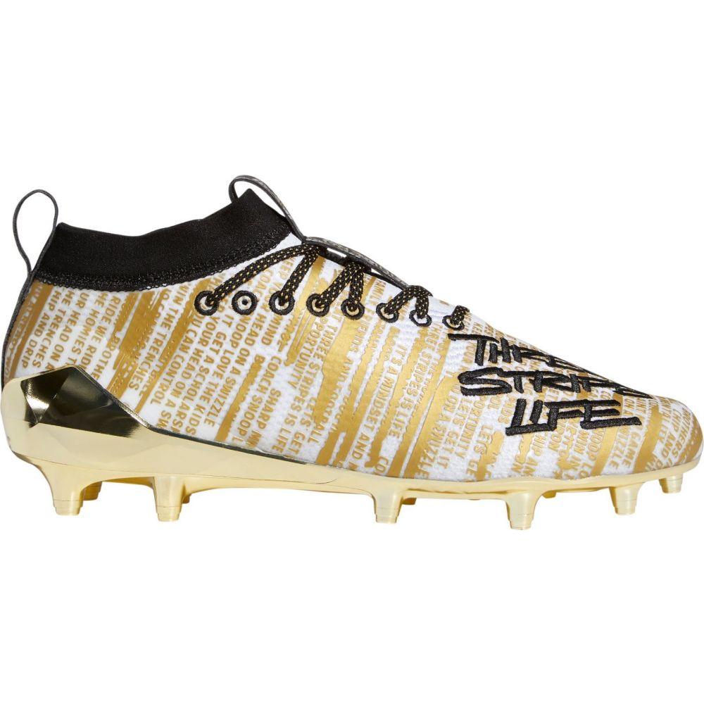 アディダス adidas メンズ アメリカンフットボール スパイク シューズ・靴【adizero 8.0 Three Stripe Life Football Cleats】Gold/Black