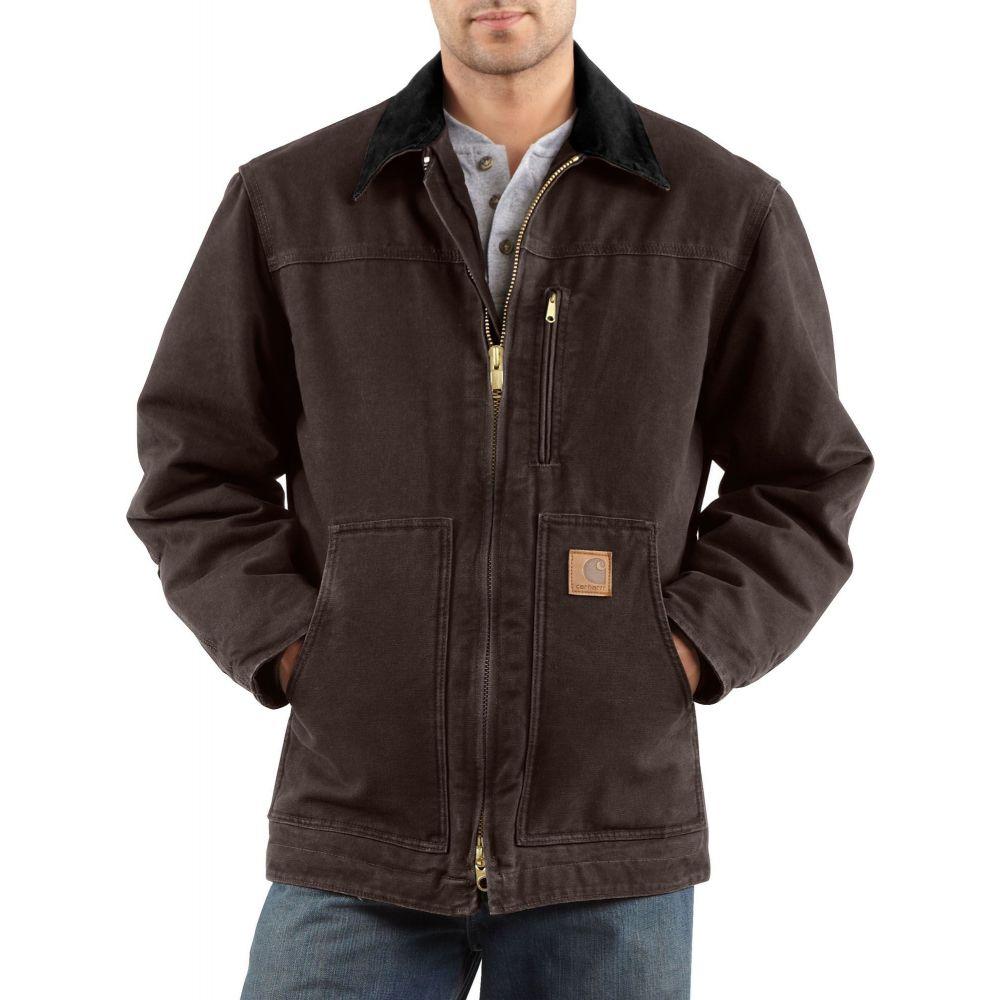 カーハート Carhartt メンズ コート 大きいサイズ アウター【Sandstone Ridge Coat - Big & Tall】Dark Brown