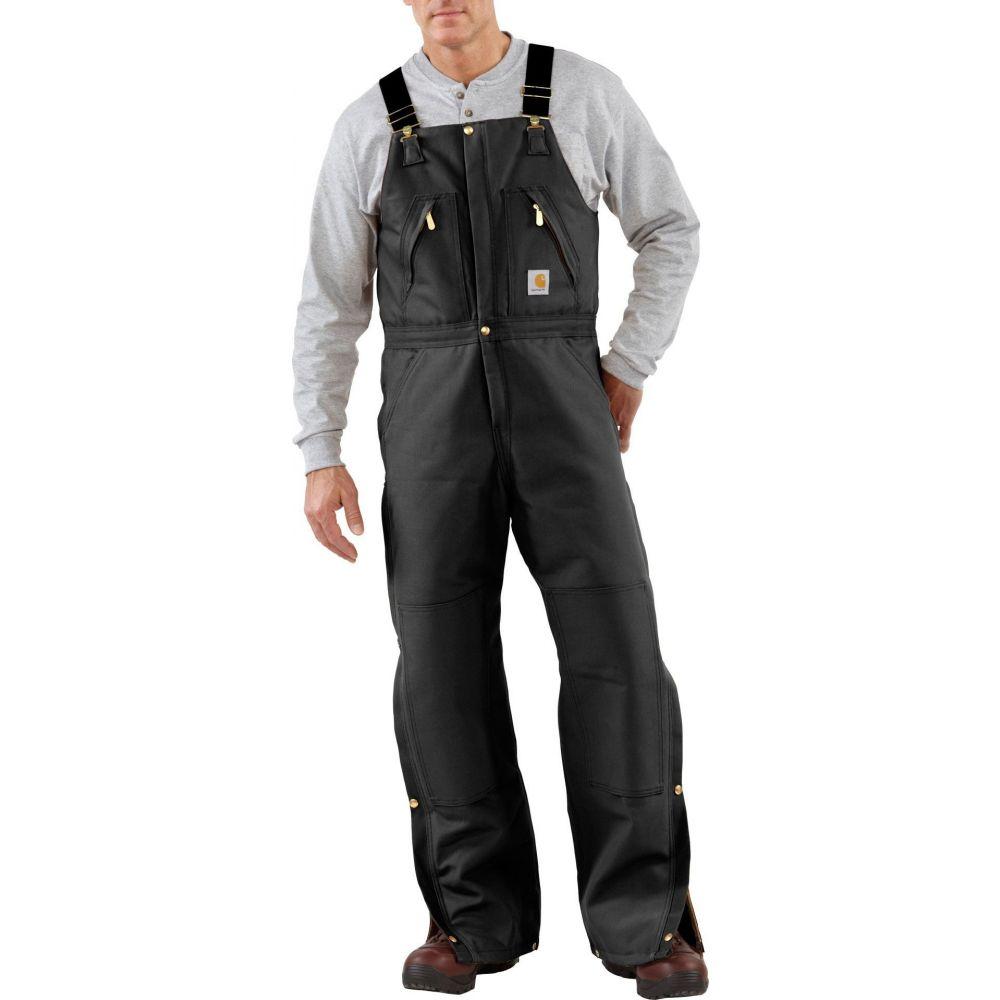 カーハート Carhartt メンズ オーバーオール ボトムス・パンツ【Zip-To-Waist Quilt Lined Duck Bibs】Black