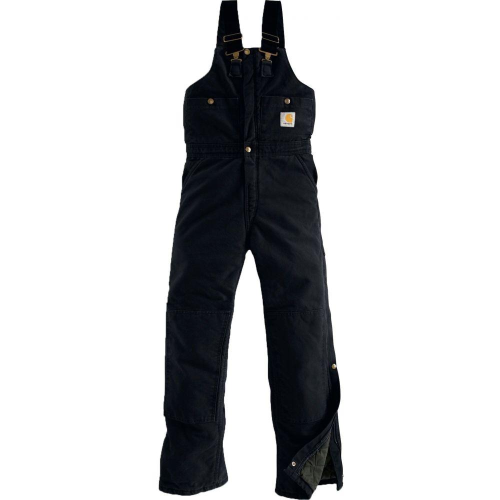 カーハート Carhartt メンズ オーバーオール ビブパンツ ボトムス・パンツ【Sandstone Duck Quilt-Lined Overall Bib】Black