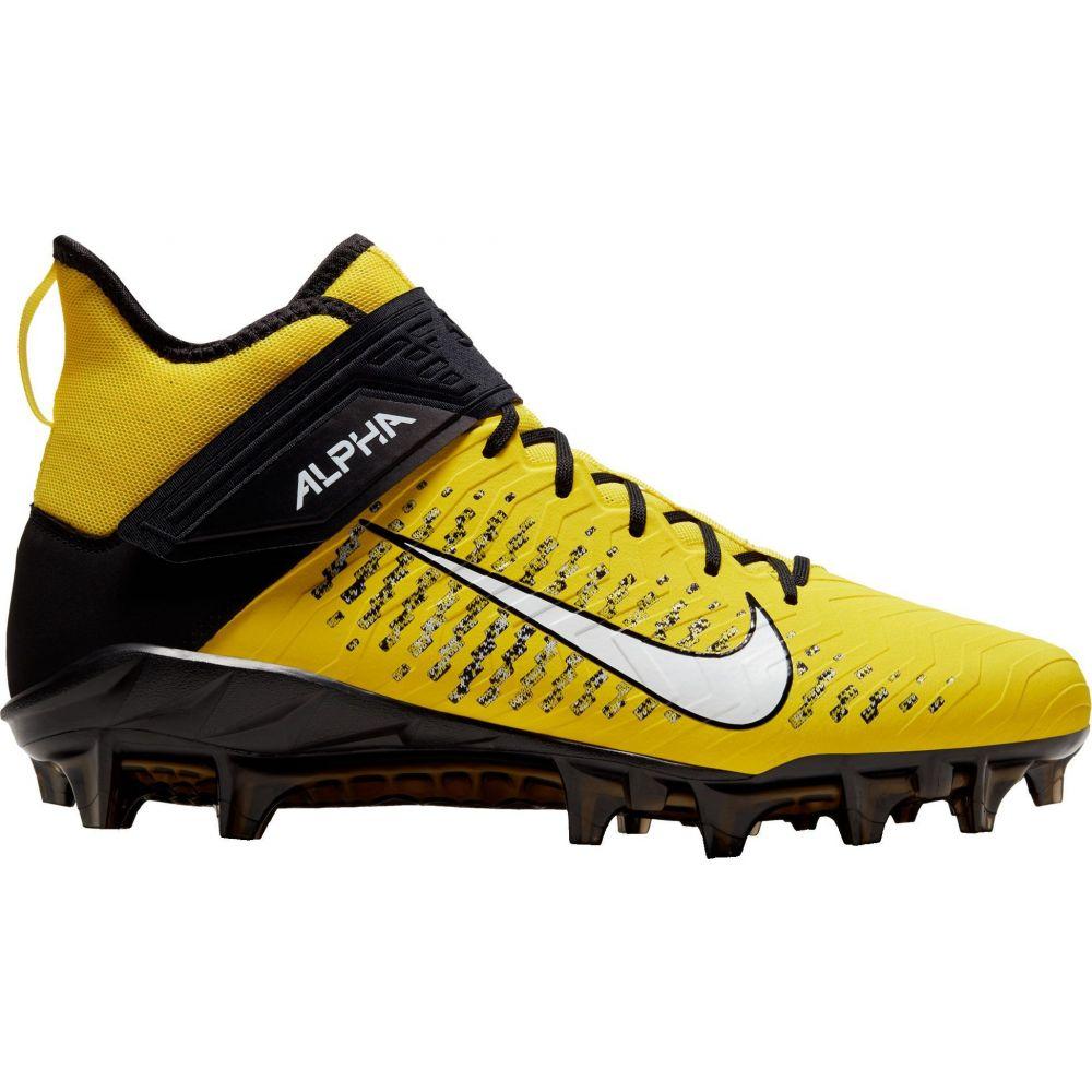 ナイキ Nike メンズ アメリカンフットボール スパイク シューズ・靴【Alpha Menace Pro 2 Mid Football Cleats】Opti Yellow/Black
