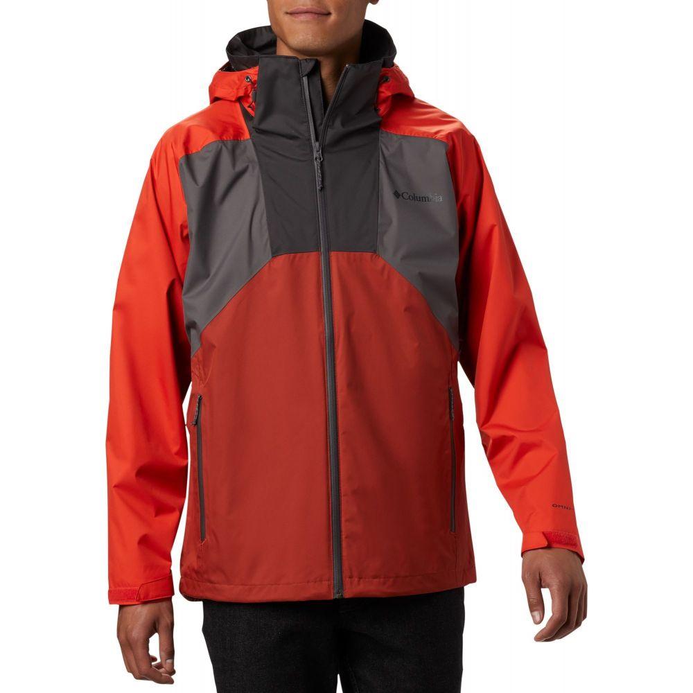 コロンビア Columbia メンズ レインコート アウター【Rain Scape Jacket】Cty Gry/Wldfire/Crnlan Rd