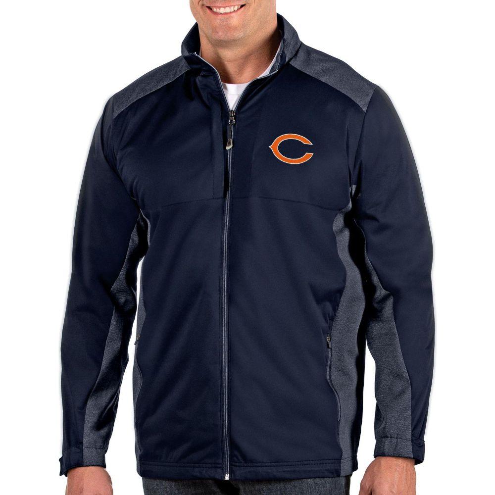 アンティグア Antigua メンズ ジャケット アウター【Chicago Bears Revolve Navy Full-Zip Jacket】