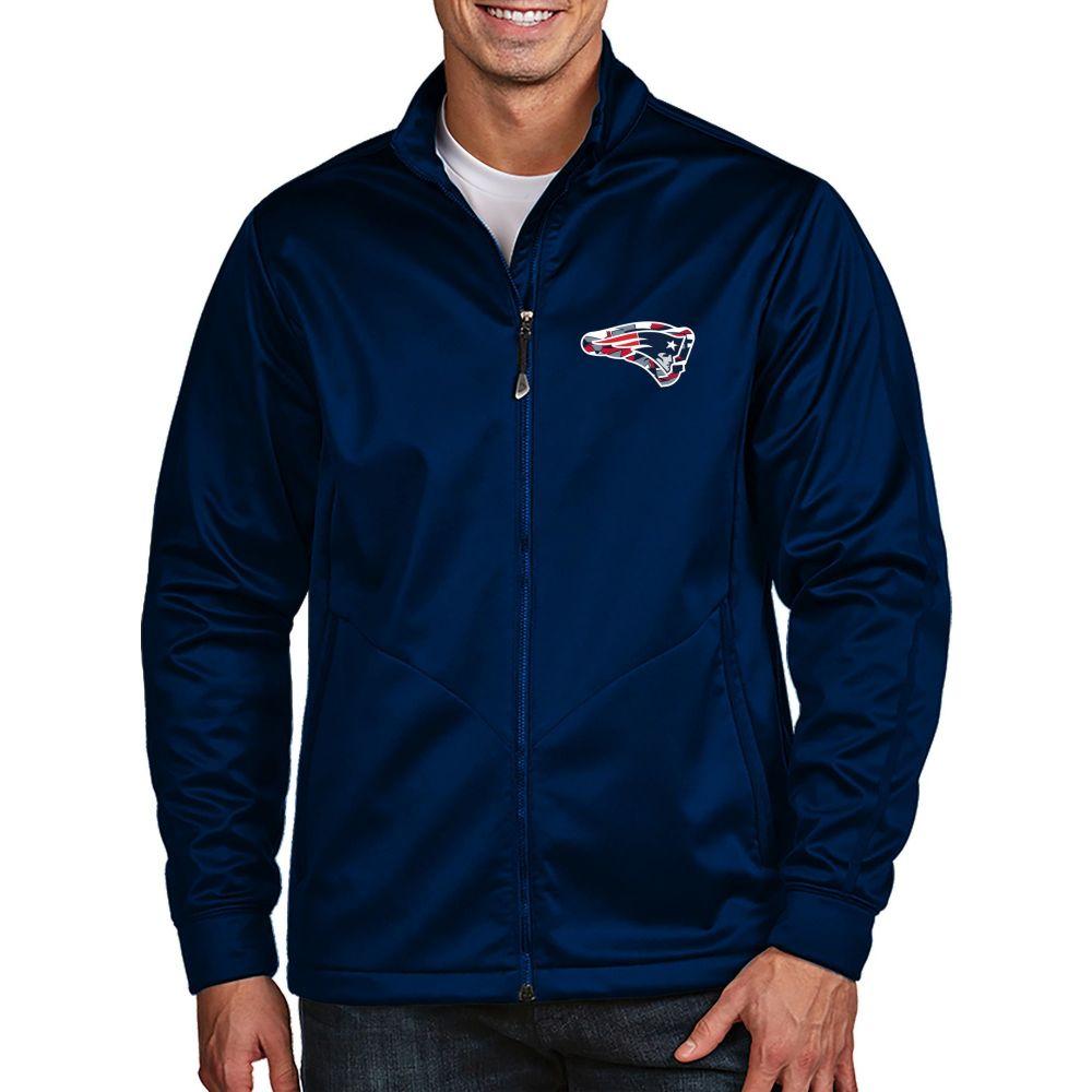 アンティグア Antigua メンズ ゴルフ ジャケット アウター【New England Patriots Quick Snap Logo Navy Golf Jacket】