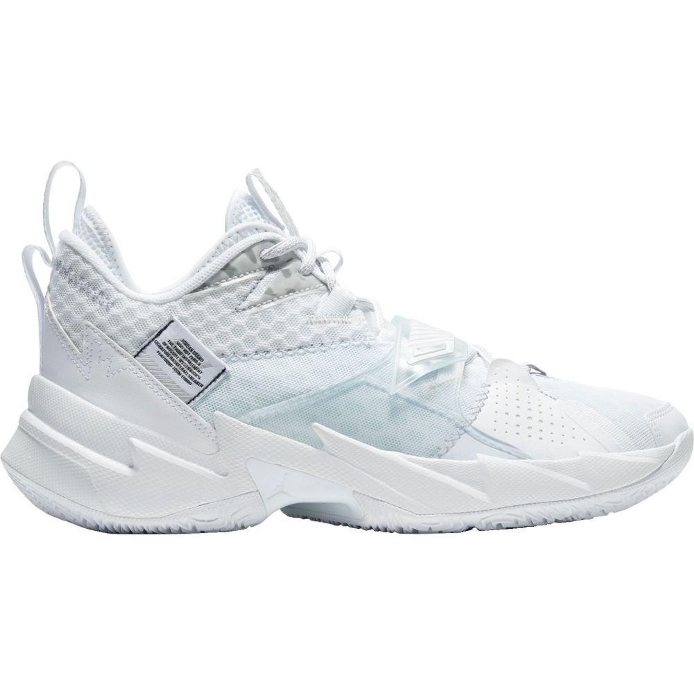 ナイキ ジョーダン Jordan メンズ バスケットボール シューズ・靴【Why Not Zer0.3 Basketball Shoes】White/Metallic Silver/Blk