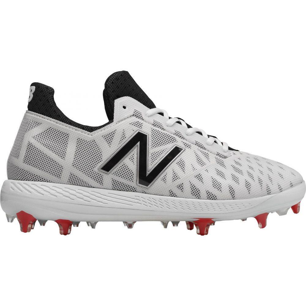ニューバランス New Balance メンズ 野球 スパイク シューズ・靴【COMPV1 Baseball Cleats】White/Black