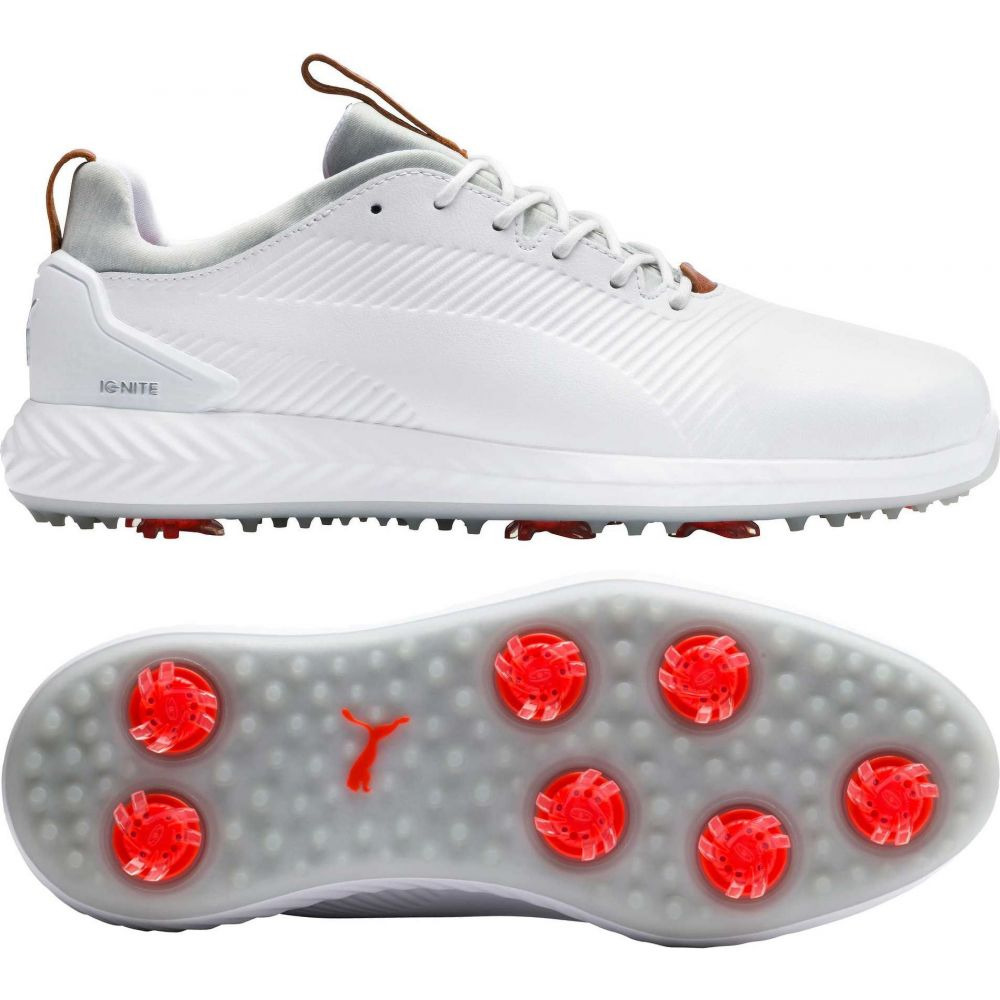 プーマ PUMA メンズ ゴルフ シューズ・靴【IGNITE PWRADAPT Leather 2.0 Golf Shoes】White