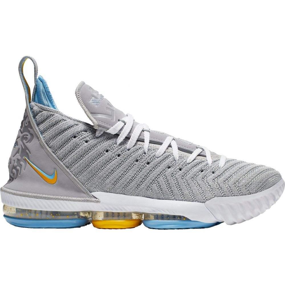 ナイキ Nike メンズ バスケットボール シューズ・靴【Lebron 16 Basketball Shoes】Wolf Gry/Wht/Universty Bl