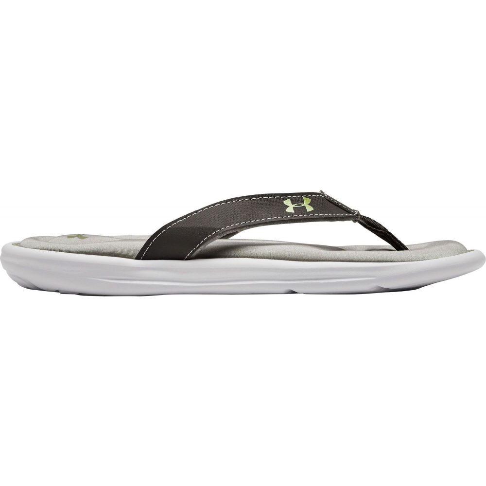 アンダーアーマー Under Armour レディース ビーチサンダル シューズ・靴【Marbella VI Flip Flops】Grey/White